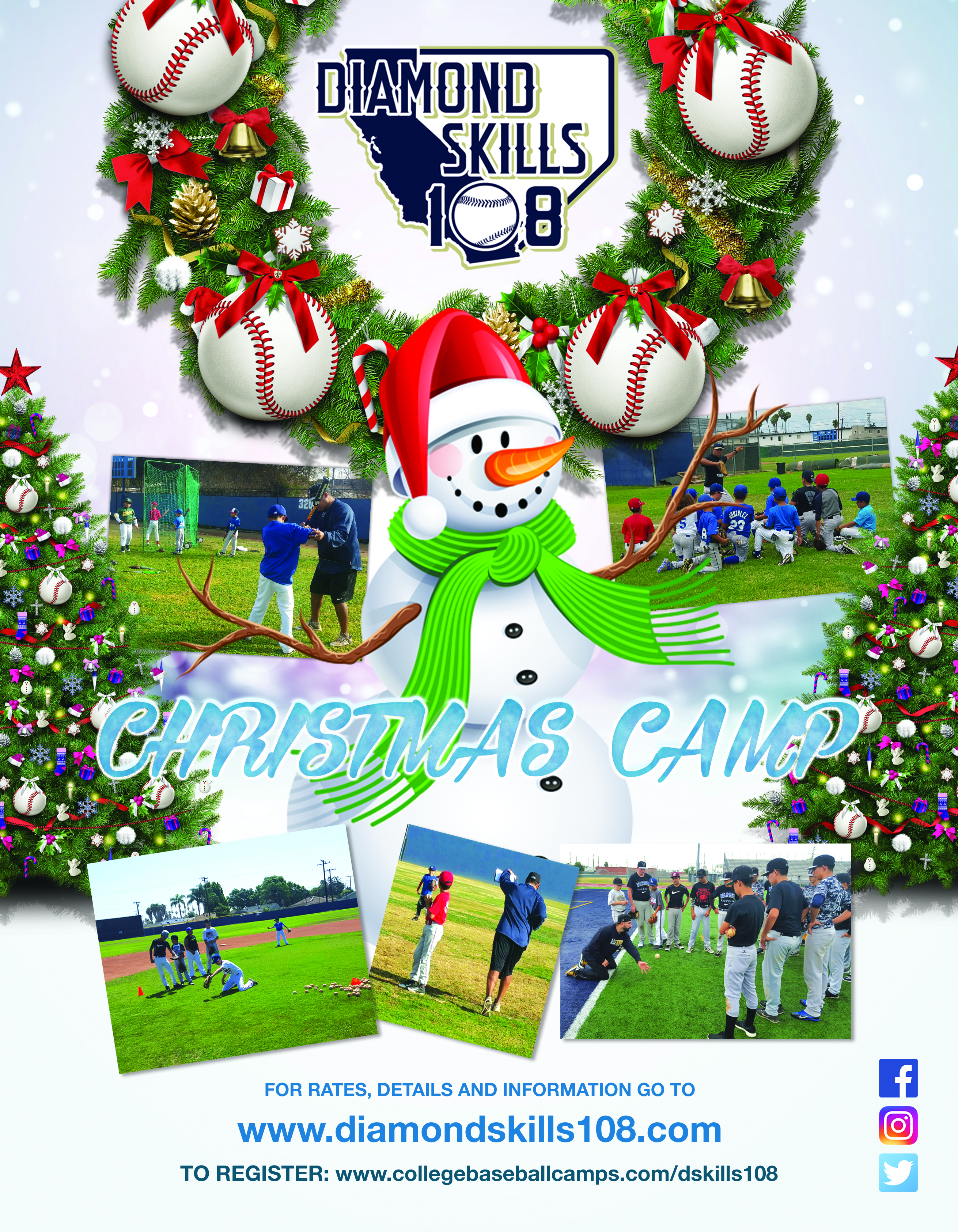 baseball camps, sports, christmas camps